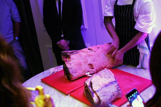 The side of beef Head Chef Jimmy Williams talked through