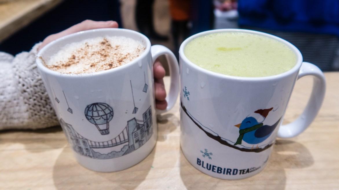 Dairy free chai latte and matcha latte