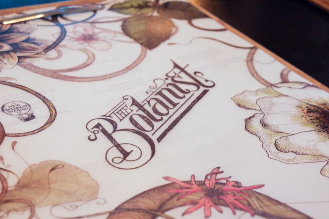 Botanist menu