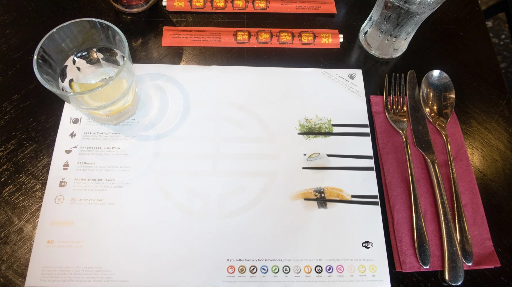 Cosmo table setting
