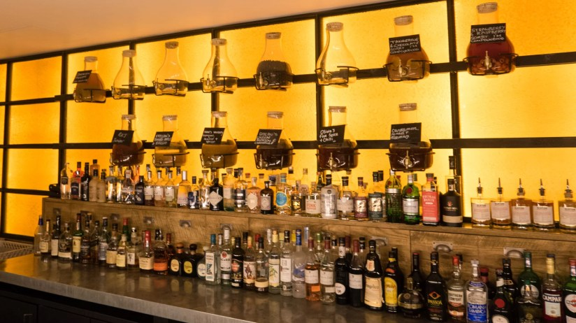 The gin selection at Alston bar