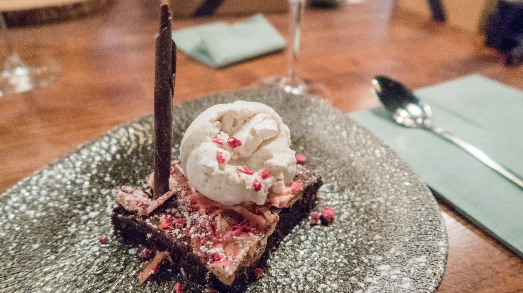 Christmas pudding brownie