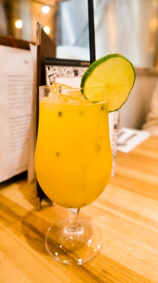 Mango and Passionfruit Collins £4.50