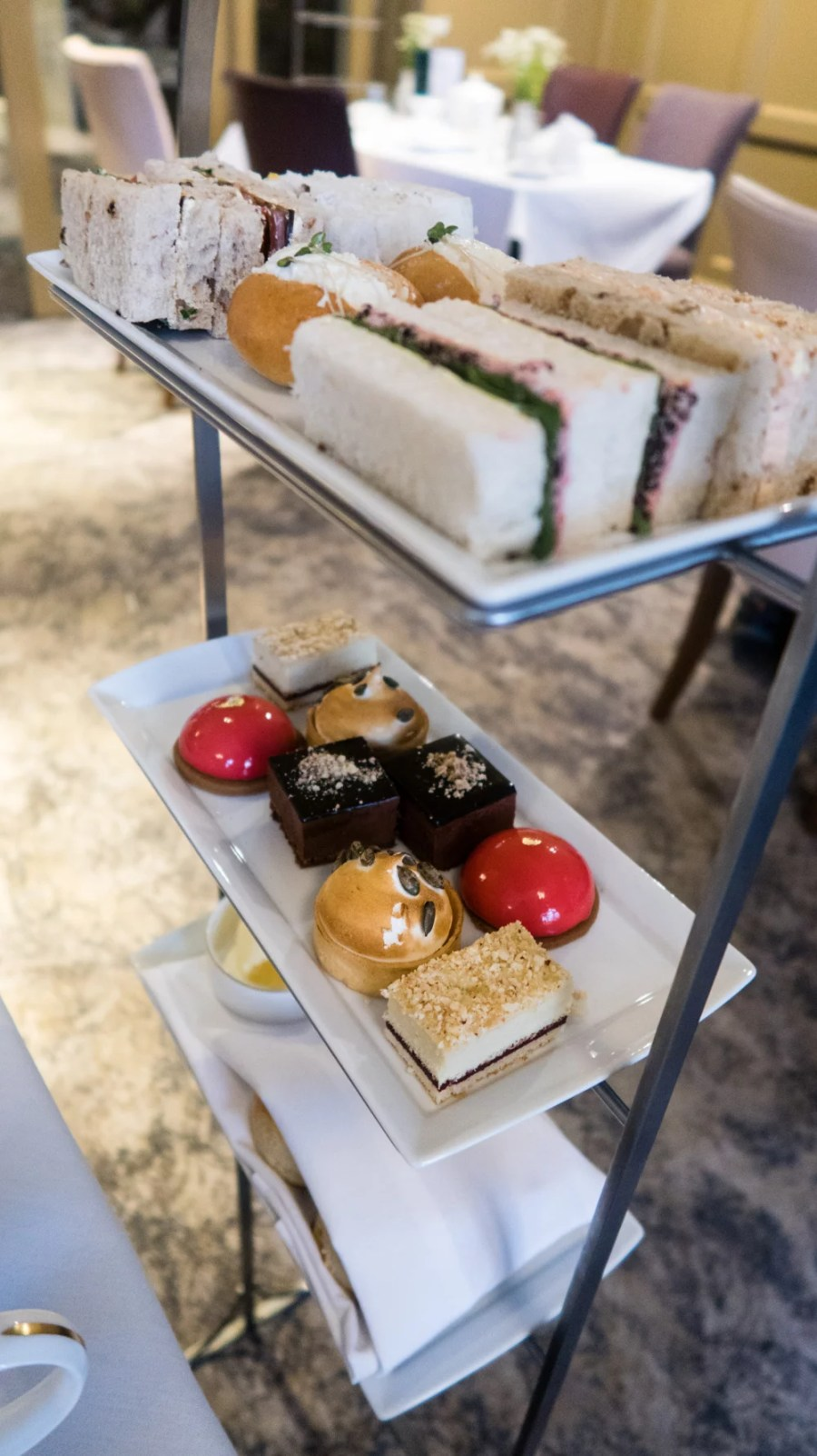 Afternoon tea stand at the Midland hotel