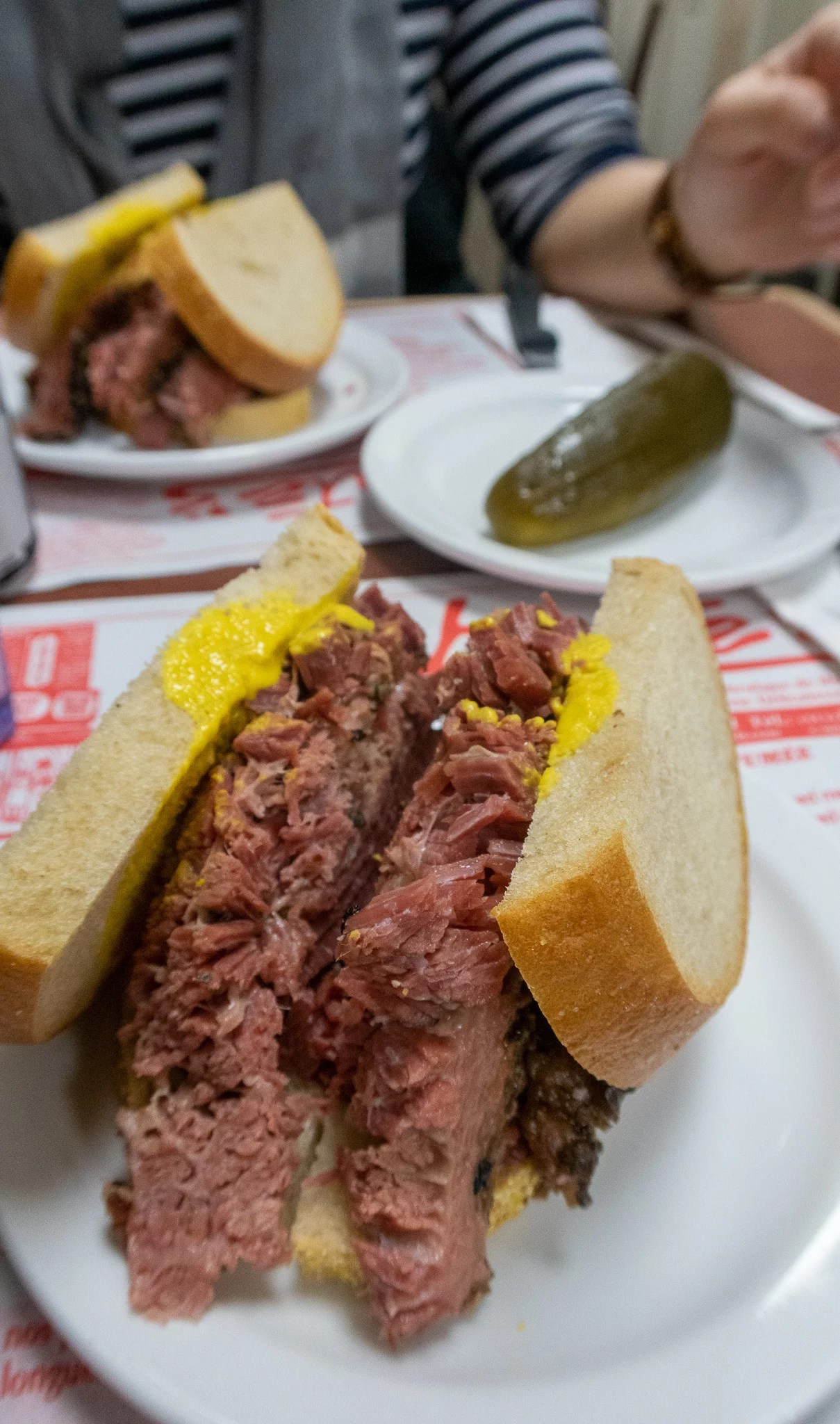 Smoked Meat sandwich from Schwartz