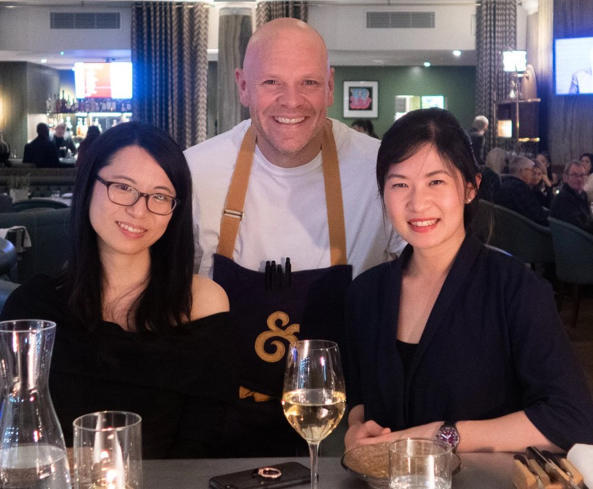 My sister and I with Chef Tom Kerridge