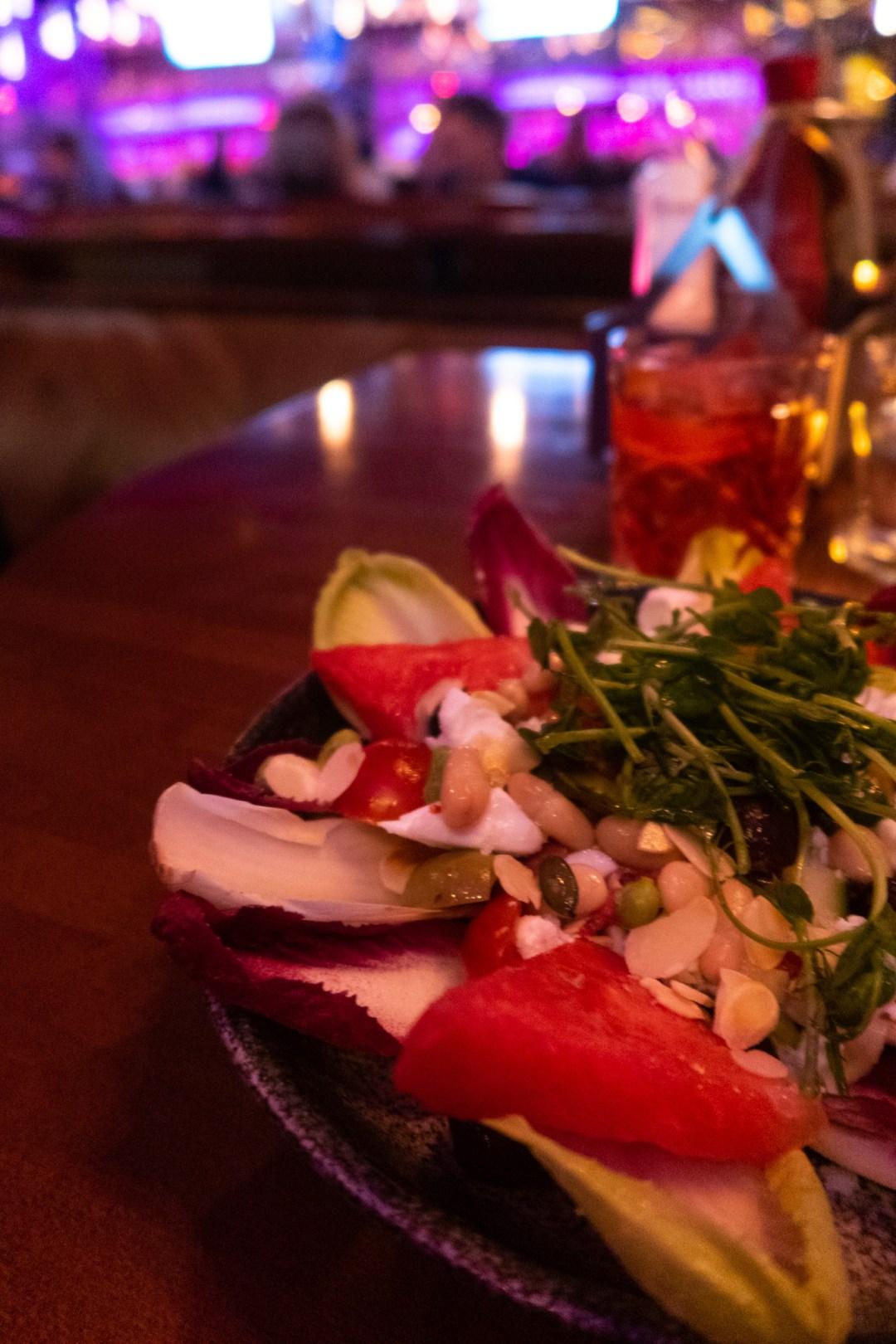 Watermelon and feta superfood salad
