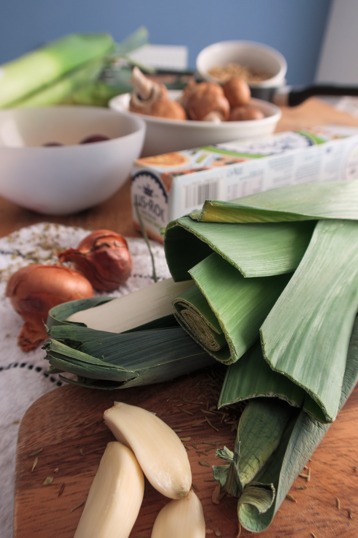 Beetroot wellington ingredients side view