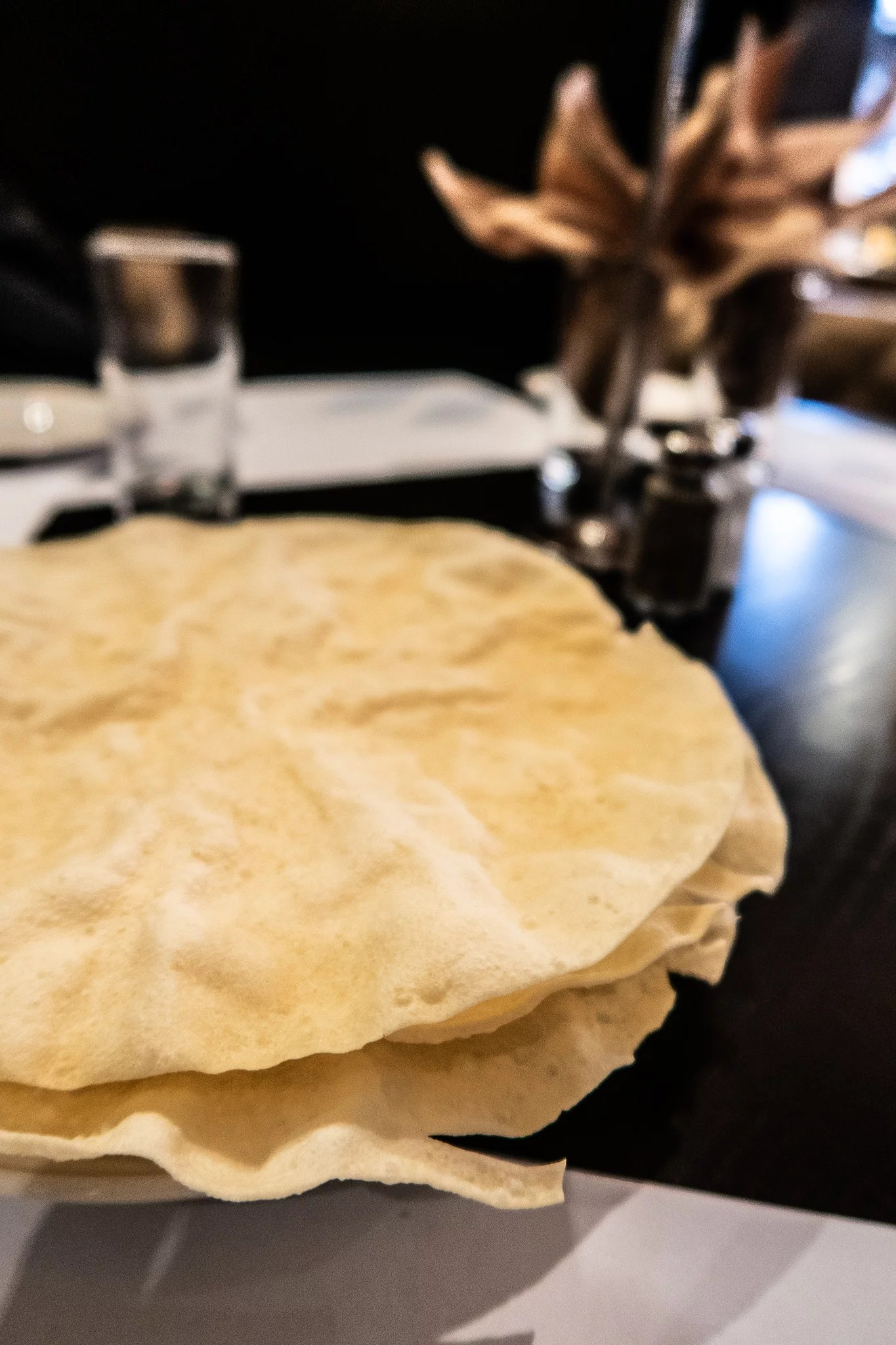 Poppadums at Royal Nawaab