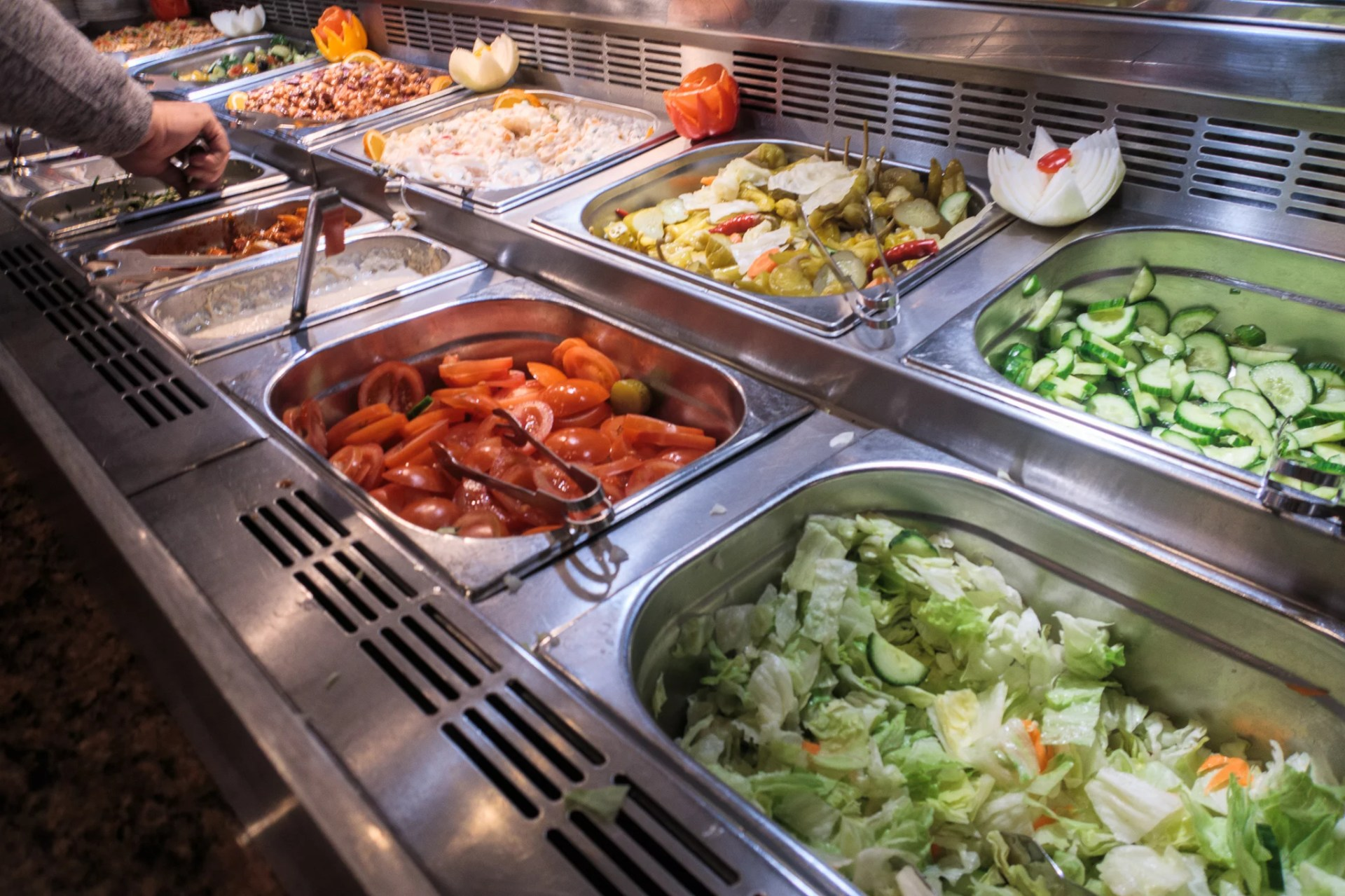 Salad bar at Royal Nawaab