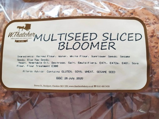 Thatcher's Bakery Multiseed Sliced Bloomer ingredients