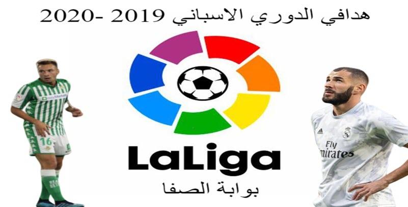 ترتيب هدافي الدوري الاسباني 2019 2020 بعد انتهاء الجولة الثامنة