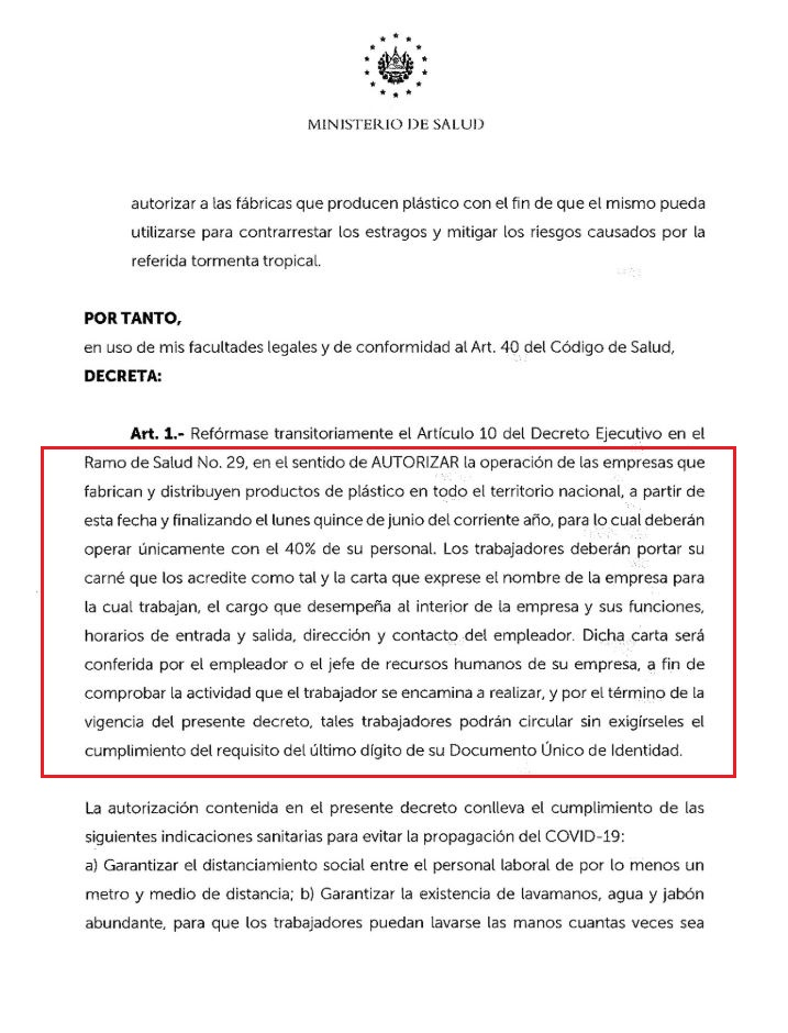 Decreto Ejecutivo 30 2 con cuadro