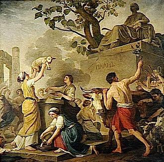 Fiesta de Pales ( Joseph-Benoît Suvée , 1783)