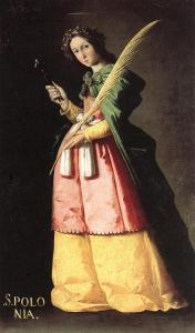 Cuadro de Francisco de Zurbarán (ca. 1631) Museo del Louvre procedente del convento de la Merced Descalza del Señor San José (Sevilla) Origen : Wikipedia