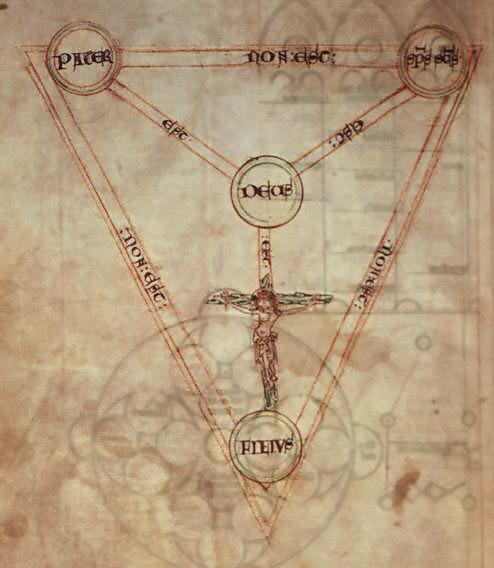 PetrusPictaviensis_CottonFaustinaBVII-folio42v_ScutumFidei_early13thc