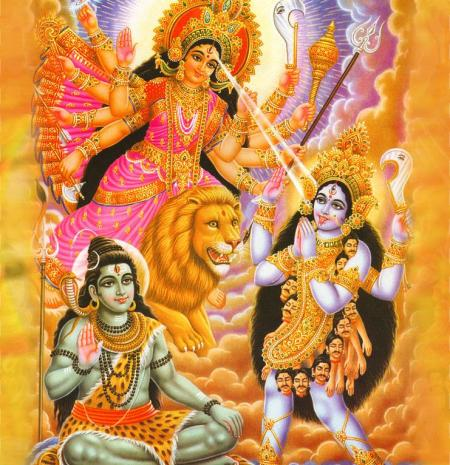 Shiva, durga y Kali