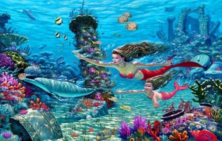 sirenas-en-el-mar