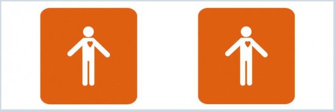 Icono de la discapacidad orgánica./ La Ciudad Accesible Icono de la discapacidad orgánica