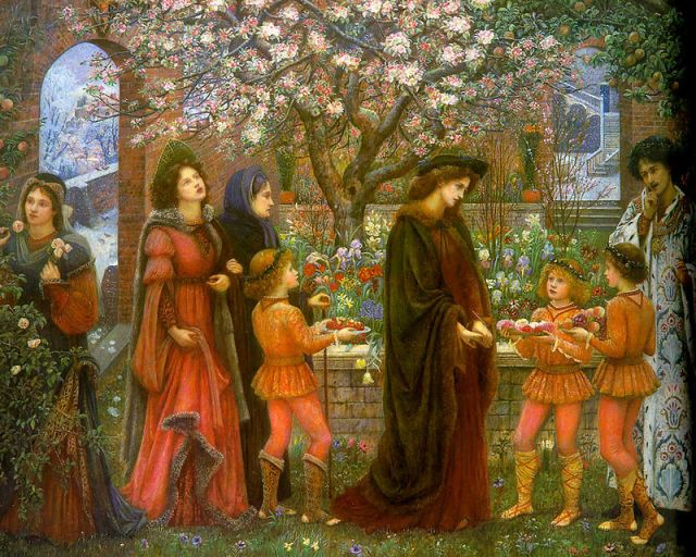 800px-The_Enchanted_Garden_of_Messer_Ansaldo_by_Marie_Spartali_Stillman_(1889)