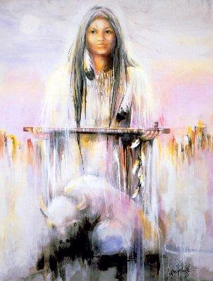 Mujer Bufalo Blanco