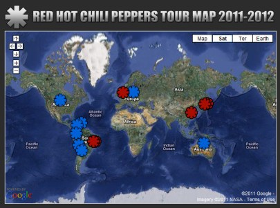 RED HOT CHILI PEPPERS en Colombia 2011