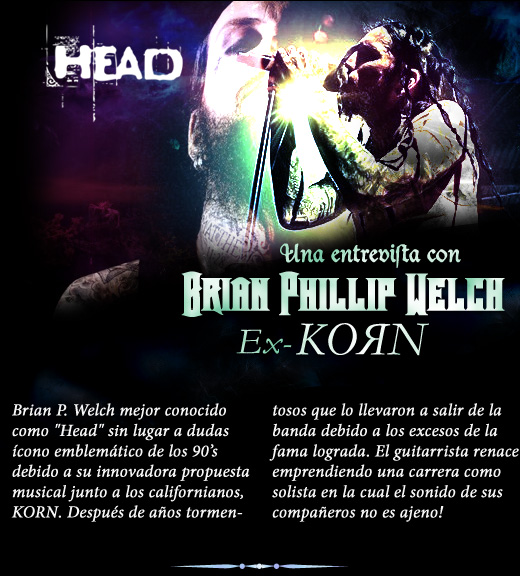 Entrevista con Brian Head Welch ex-Korn