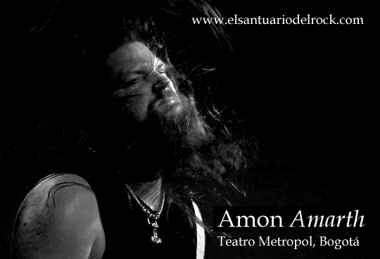 Reseña concierto Amon Amarth en Colombia 2012, Mar 22 en el Teatro Metropol de Bogota