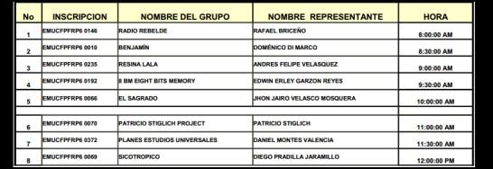 Publicación listado audiciones Rock al Parque 2012 - MIERCOLES 30 DE MAYO DE 2012 TEATRO AL AIRE LIBRE LA MEDIA TORTA Calle 18 No. 1 - 05 Este  Publicación listado audiciones Rock al Parque 2012
