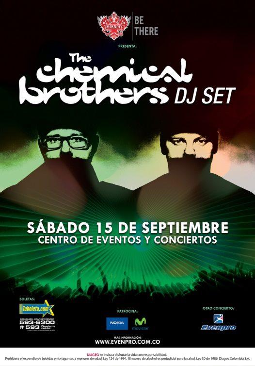 Boletas concierto The Chemical Brothers en Colombia 2012