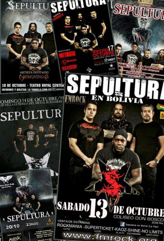 SEPULTURA en Sudamerica 2012