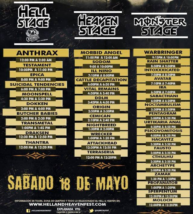 Hell And Heaven Metal Fest sabado