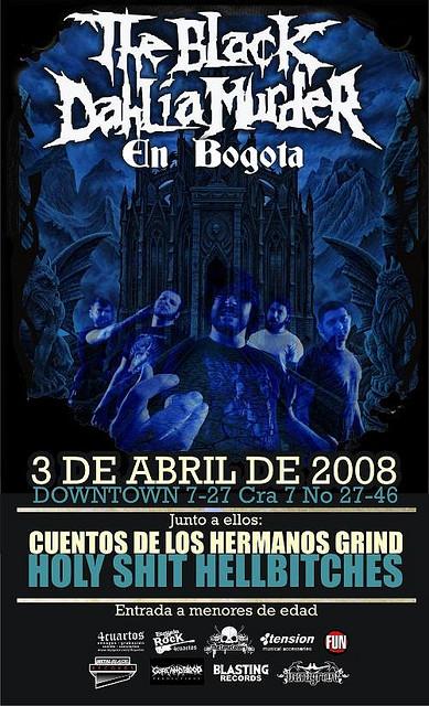 the black dahlia murder bogota 2008