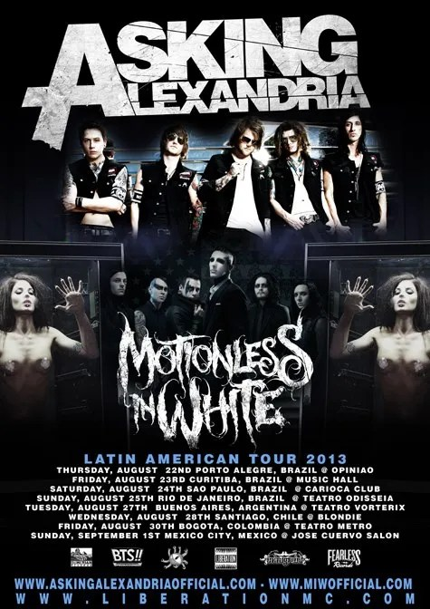 Asking Alexandria colombia