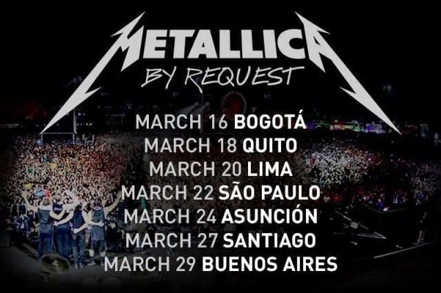 metallica sudamerica 2014