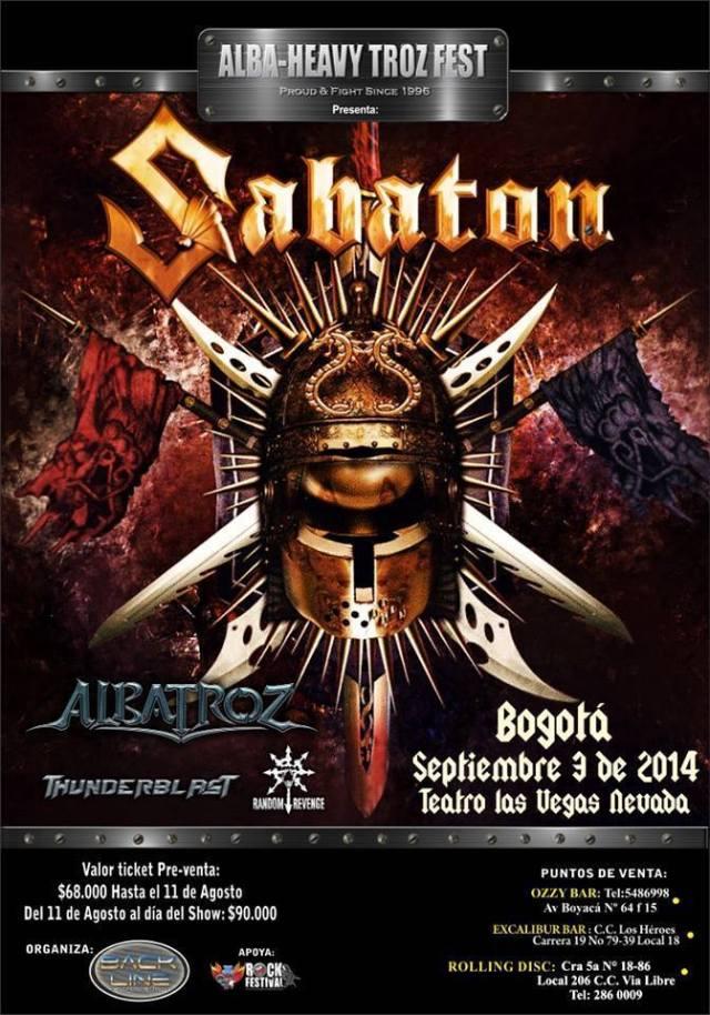 sabaton colombia 2014