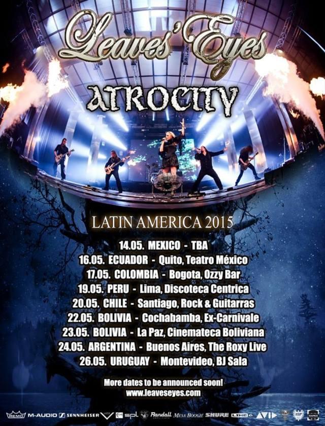 leaves eyes atrocity sudamerica 2015