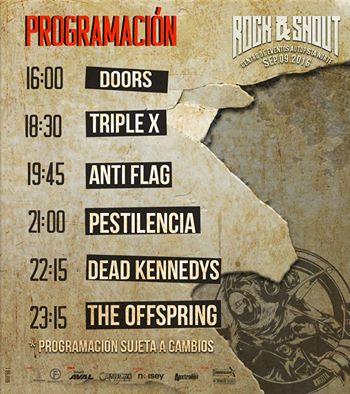 rock shout festival horarios