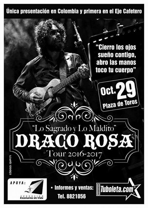 ROBI DRACO ROSA en Colombia 2016, Oct 29 en la Plaza de Toros de Manizales