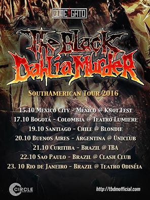 the black dahlia murder sudamerica 2016