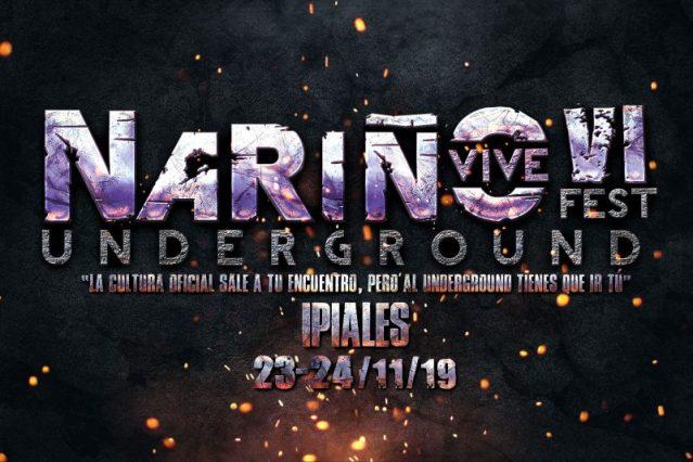 Cartel de bandas Nariño Vive Underground Fest 2019