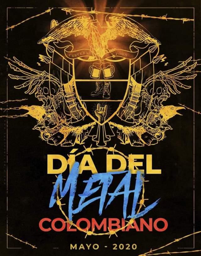 Cartel de bandas Día del Metal Colombiano