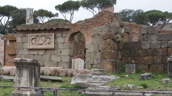 Restos de construcciones de la Antigua Roma