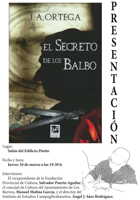 Cartel de la presentación del libro El Secreto de los Balbo