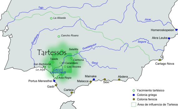 Mapa de Tartessos