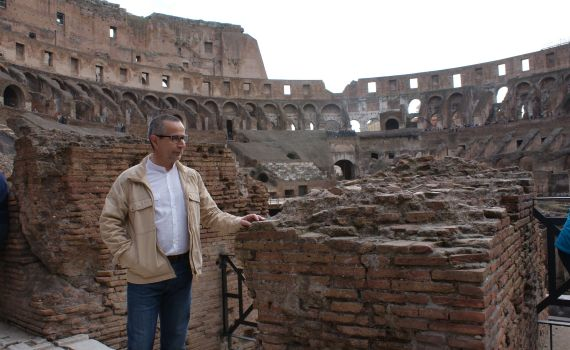 J. A. Ortega en el Coliseo