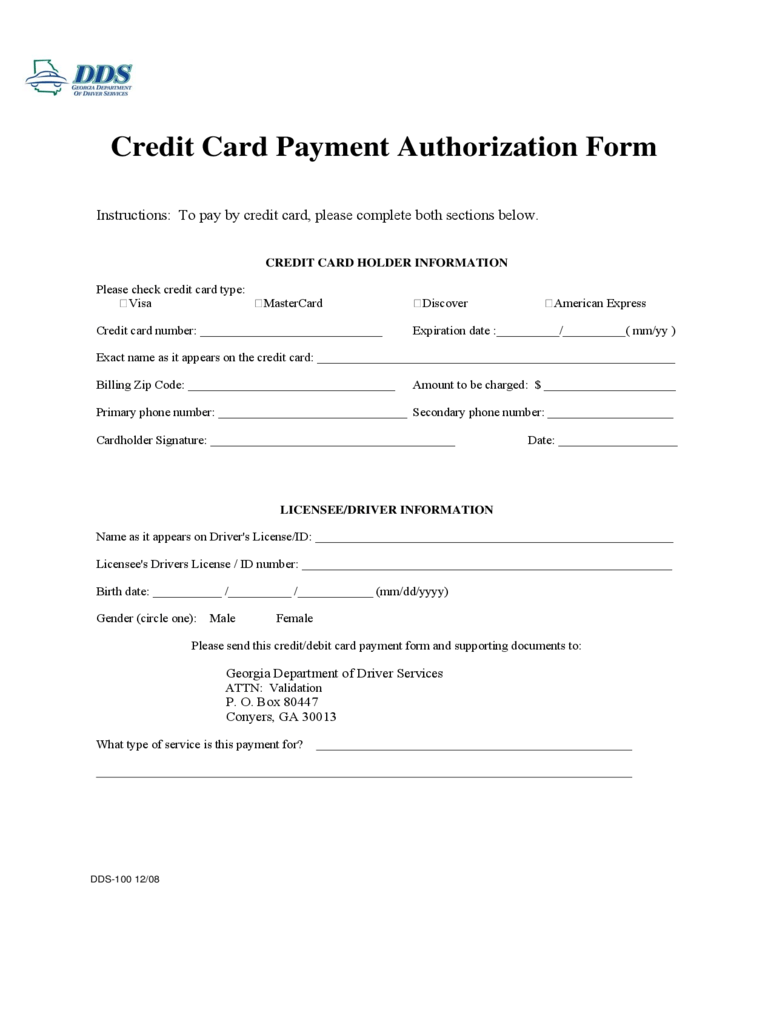 Credit Card Payment Form Ibovnathandedecker