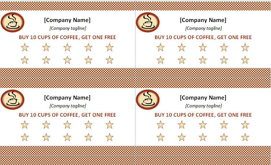 Punch Card Templates Free Download - Free punch card template