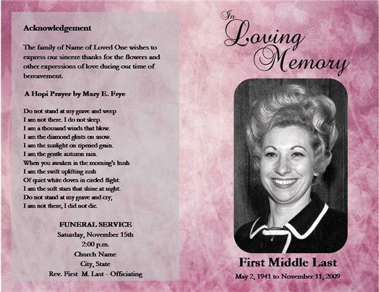 free obituary templates online