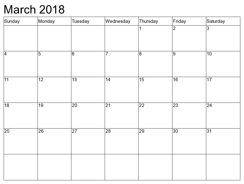 March 2018 Calendar - Country Wise Holiday List in March!!